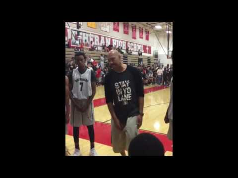 Lavar Ball scold his AAU basketball team as they lose by 50 points
