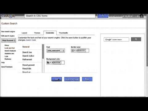 Google Custom Search Engine Tutorial