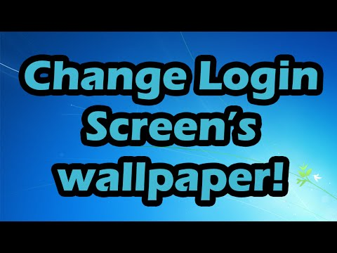 How to change Windows login screen/wallpaper