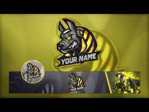 FREE Gamıng Logo / Banner And Avatar Template PSD