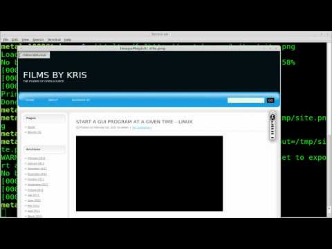 Take a Screenshot of a Website - BASH Script - Linux - cutycapt - wkhtmltopdf