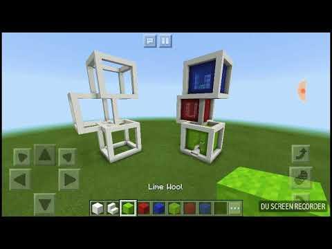 Minecraft modern Cube house