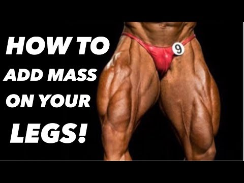 HOW TO ADD MASS ON YOUR LEGS! REGAN GRIMES 7 DAYS OUT