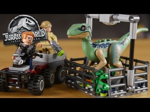 CAPTURING BLUE! - Blue's Helicopter Persuit! Jurassic World 2 Lego Set - Review/Build