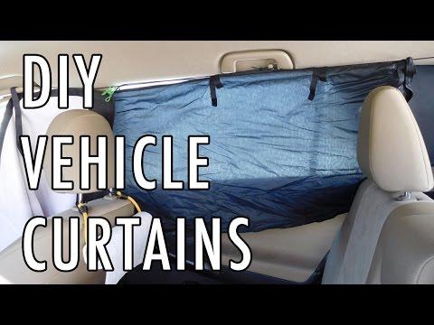 DIY Curtains for a Van, Car, SUV, etc.