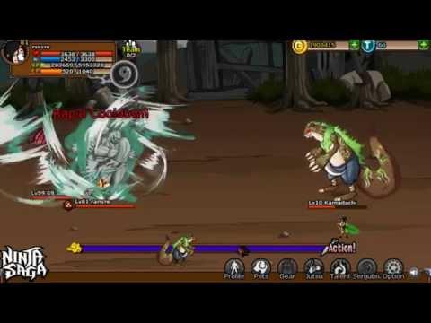 Ninja Saga Fanste vs  Eudemon Garden Bosses