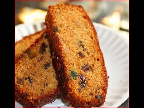 Pressure Cooker Plum Cake-Christmas Fruit Cake Baking Without Oven