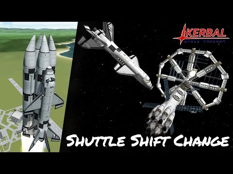 KSP Space Station Shuttle Shift Change (Tutorial:34) Kerbal Space Program 1.2 -  Stock Parts