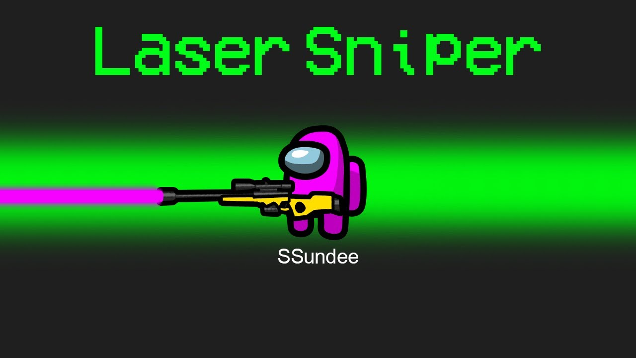 NEW LASER SNIPER Mod in Among Us