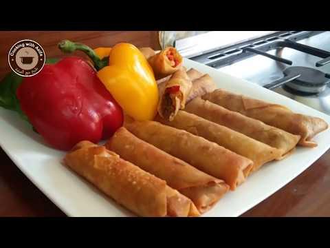 Veg Spring Rolls with Homemade Sheet | Restaurant Style Spring Rolls | Food Street Spring Rolls-