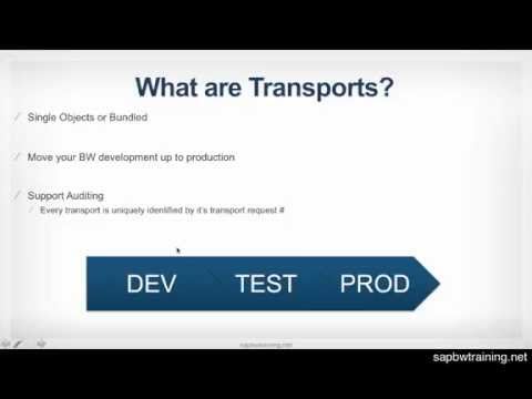 SAP BW Transport Overview and Best Practices - SAP BW Training Course