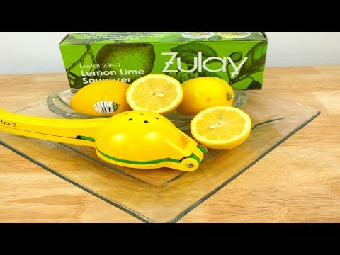 Zula 2- in- 1 Lemon Lime Squeezer Review: How To Demo