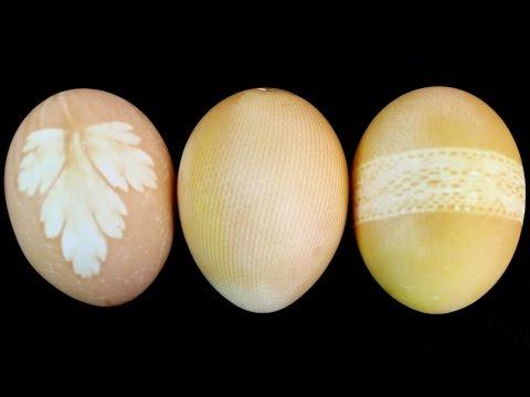 Easter eggs dyed with onion skin -  Huevos de pascua tintados con piel de cebolla  -  PinCactuss