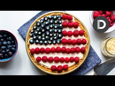 4th Of July No Bake Cheesecake Pie!
