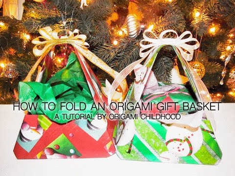 How to Fold an Origami Gift Basket