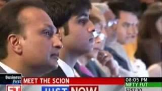 Anil Ambani Introduces Son at ET Awards