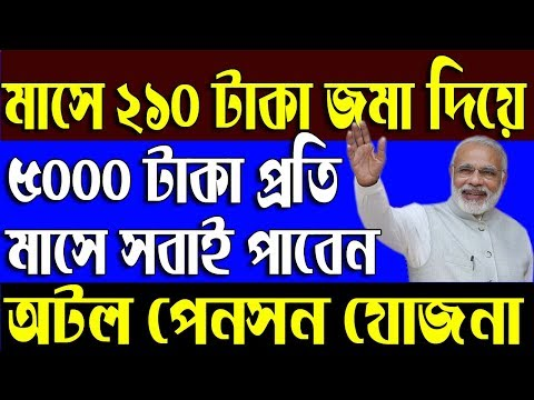 Atal Pension Yojna | for all Citizens | How to apply in West Bengal | APY Full Details in Bengali