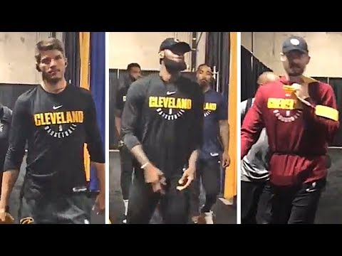 Cavaliers Players Arrive At Oracle Arena To Prepare For NBA Finals vs Warriors