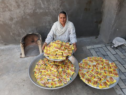 100 Maggi Noodles Cooking By My Granny   MAGGI RECIPE prepared for Kids   maggi noodles street style
