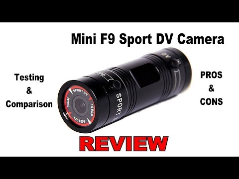 📸   REVIEW: Mini F9 Sports DV Camera. Unboxing, Testing and Comparison. Live Action Footage!