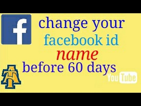 How to change facebook id name before 60 days, easy process