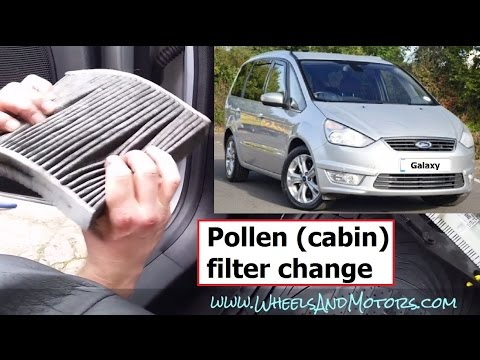 How to replace pollen (cabin air) filter Ford Galaxy/S-Max - RIGHT HAND DRIVE