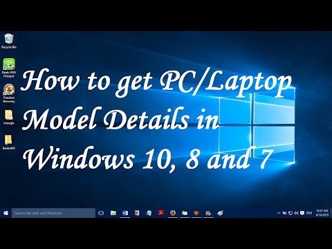 How to get Computer model details in Windows 10, 8 and 7
