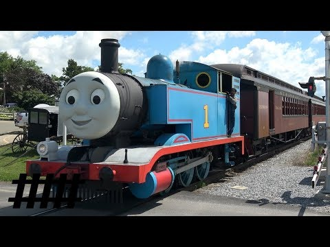 Thomas the Tank Engine Pulling Excursion Train at Strasburg Rail Road's Day Out With Thomas