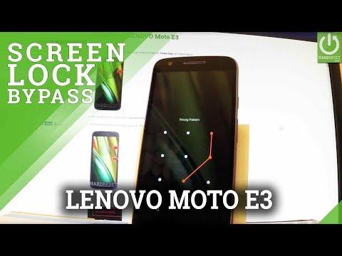 LENOVO Moto E3 Hard Reset / Restore / Unlock Screen Method