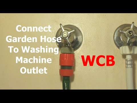 CONNECT GARDEN HOSES TO WASHING MACHINE HOT WATER OUTLET