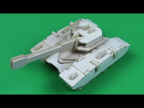 SUPER 3D PUZZLE! HOW TO MAKE A WOODEN TANK! FOR KIDS!