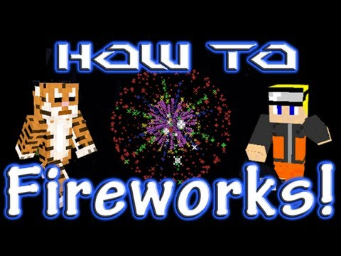 Minecraft How To: Fireworks, Fire Charges, Stars, Shape, Color, and Effect!
