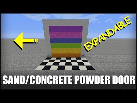 How to Make an Expandable Sand Door in Minecraft