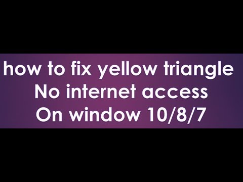 how to fix yellow triangle on wifi