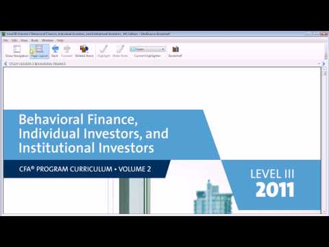 Preview : CFA Curriculum E-Book Version