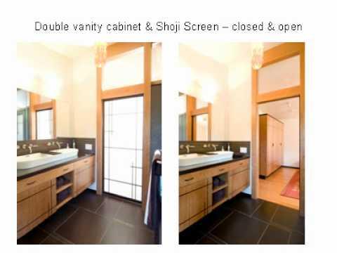 Contemporary Bathroom Cabinetry and Shoji Screens