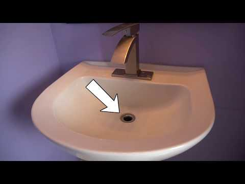 How to Install Push Pop-Up Drain Plug Stopper and Review (700Brass)