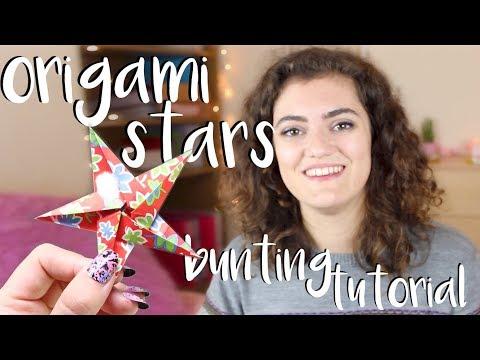 Origami Star Bunting Tutorial