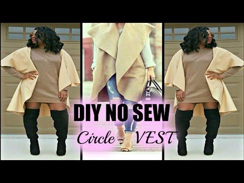 No Sew DIY Sleeveless Coat/Vest Tutorial || RbyRachaelRae