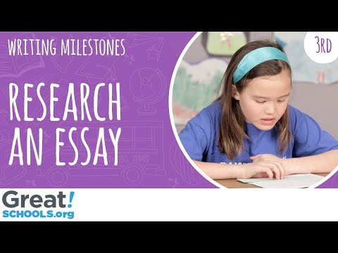 Can your 3rd grader do research for an essay? - Milestones from GreatSchools