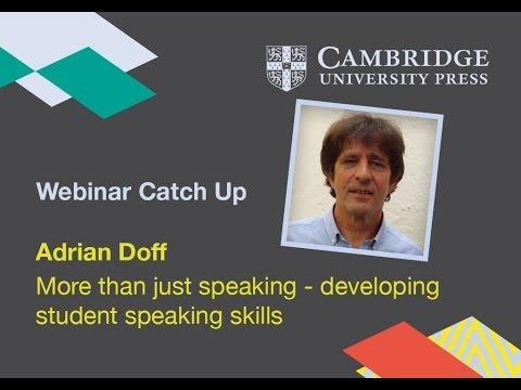More than just speaking - developing student speaking skills