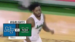 Middle Tennessee vs. Marshall Basketball Highlights (2018-19) | Stadium