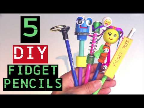 DIY FIDGET TOY PENCILS -HOW TO MAKE FIDGET TOYS FOR SCHOOL -HOW TO MAKE PENCIL TOPPERS- EASY TO MAKE