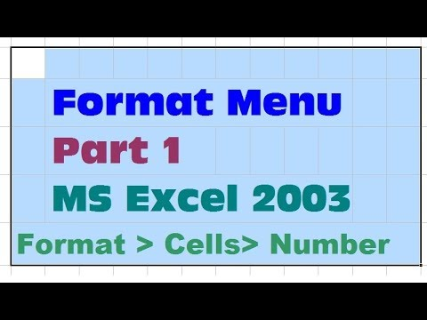 16- How to Use The Format Menu In Ms Excel 2003 - in Urdu/Hindi - Part 1- Lunar Computer College