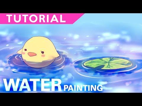 Water Painting【Digital Coloring Tutorial】| درس تلوين الماء