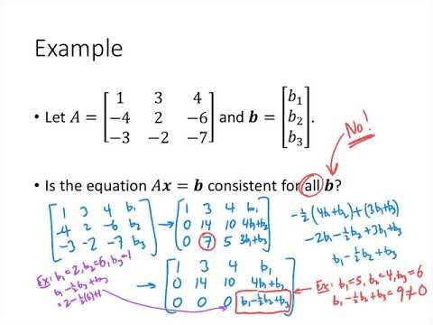 Linear Algebra - Lecture 9 - Matrix Equations