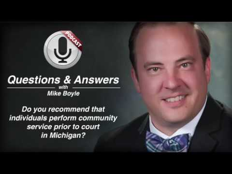 Michigan OWI Court Date and Community Service - Michigan Criminal Lawyer