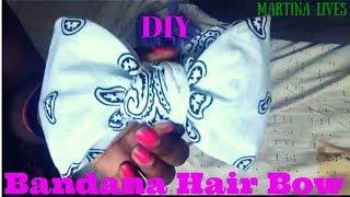 Diy Bandana Hair Bow No Sewing Or Glue