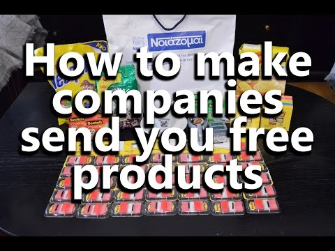 How to make companies send you free products | Unboxing