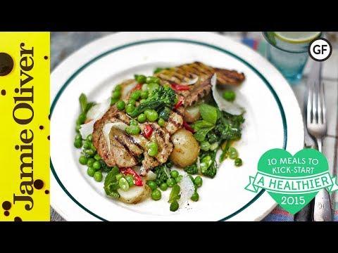 Healthy Pork Escalope with Super Greens | Jamie Oliver | #10HealthyMeals